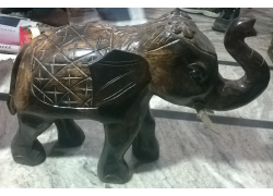 Carved Wooden Antique Solid Wooden Elephant  Eco Friendly Toys