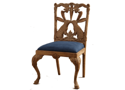 Carved Wooden Antique Chair made of Red Wood