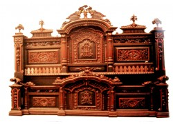 Carved Wooden king size Double Bed