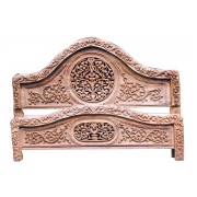 Carved Wooden Antique Double Bed with  polishing Carved wooden Double Bed with price King Size