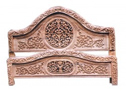 Carved Wooden Antique Double Bed with  polishing Double Bed Design With Price