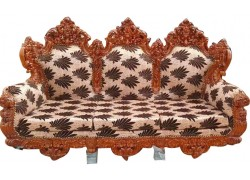 Sheesham Carved Wooden Antique 6 Seater with one Centered Dining Table Set Carved Wooden Sofa Set